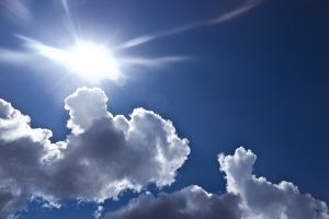 clouds sun light